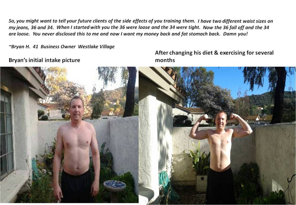 *Personal training client Bryan H lost weight and gained strength.  We helped him and we will help you too!