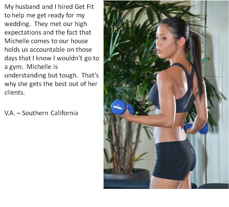 She's been a personal training client for nearly 2 years.  See other testimonials by clicking here.