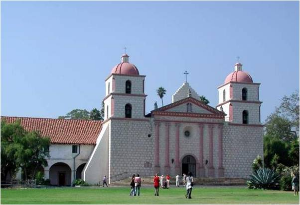 The beautiful Santa Barbara Mission.