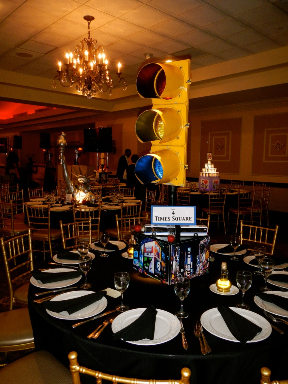 NYC Theme Bar Mitzvah At Brooklake Country Club