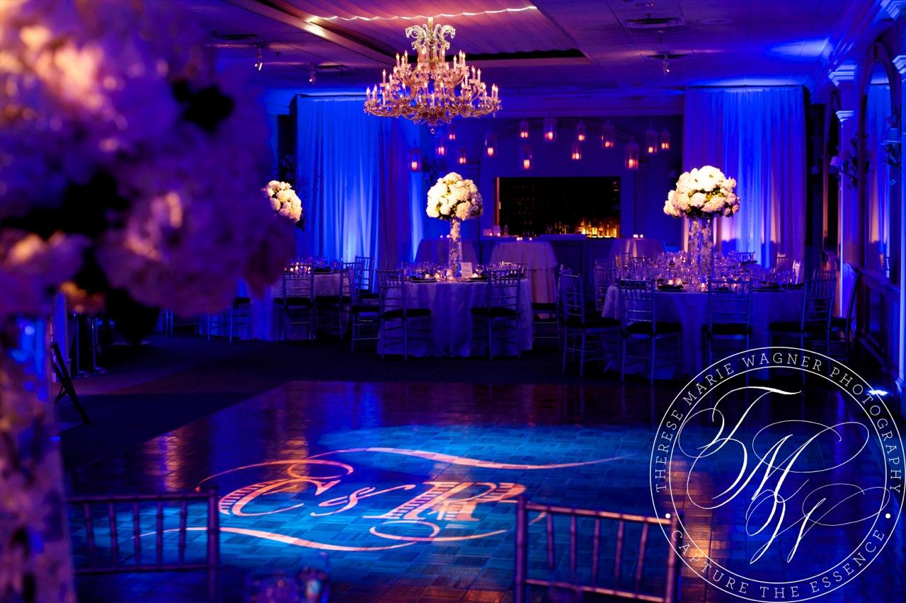 Bold Elegant Wedding Lighting And Draping At The Bernards Inn