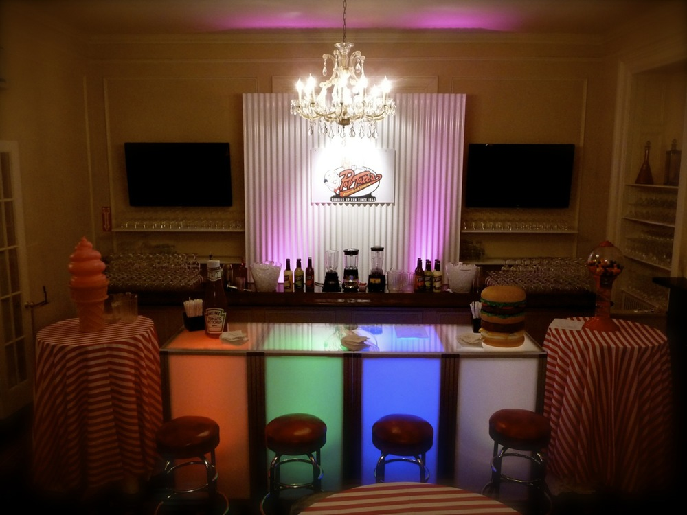 Bar Rental NJ NYC Eggsotic Events Archie Comics Theme Bar Glowing 50s Diner 1.jpg