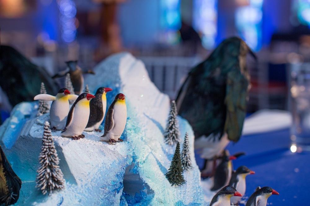 Details of our penguin centerpiece