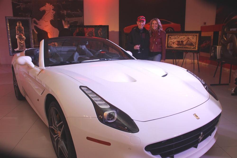 Ferrari California • Lighting by Eggsotic Events • Photo by Ryan Grant
