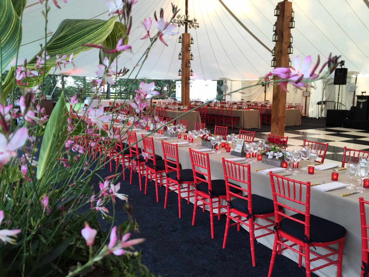 Country Rustic Decor Meets Modern Lighting Tented Rehearsal Dinner
