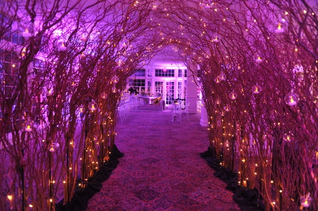 An enchanted entry way is a perfect first impression to give your guests.