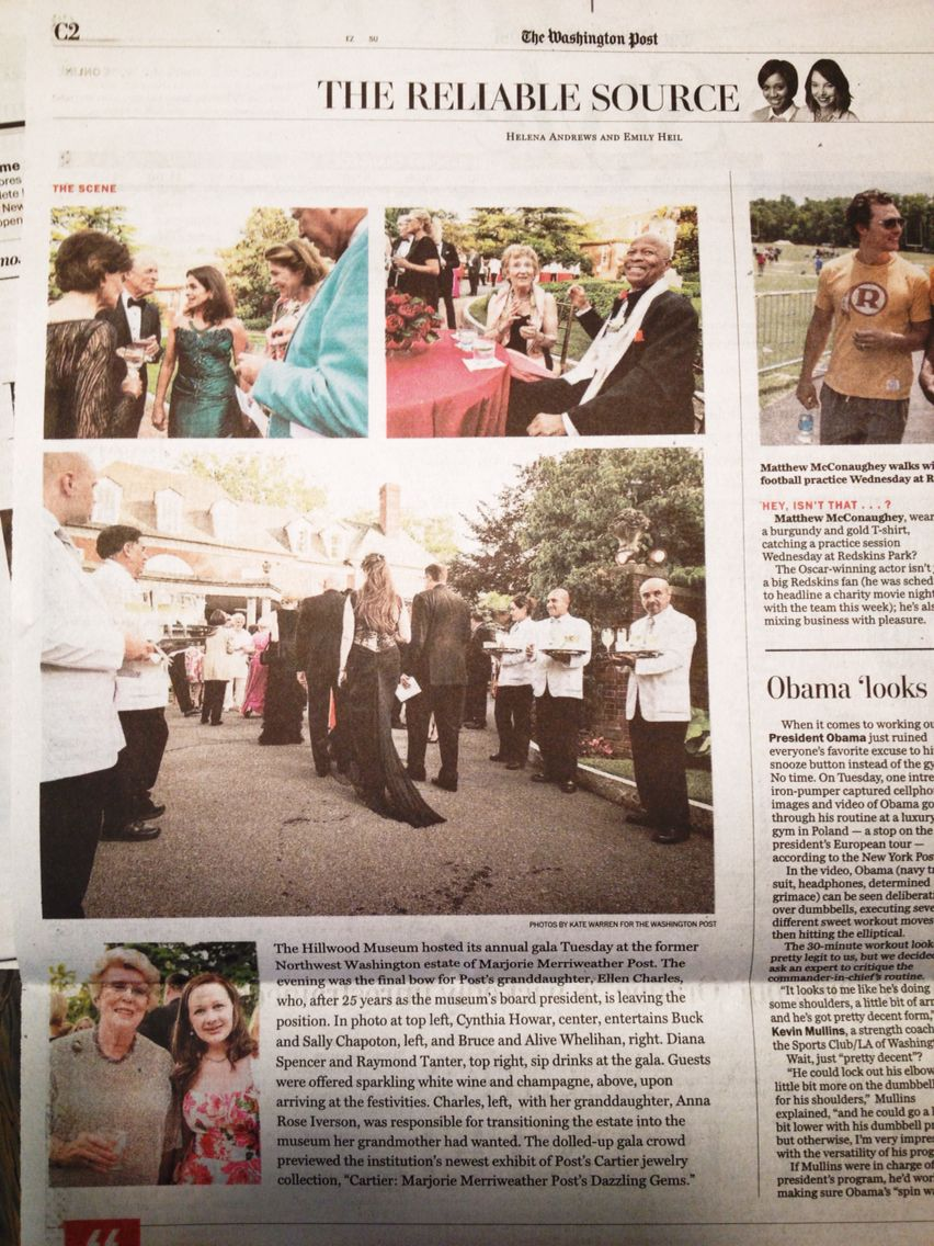 My photo story on the Hillwood gala in today's Style section.