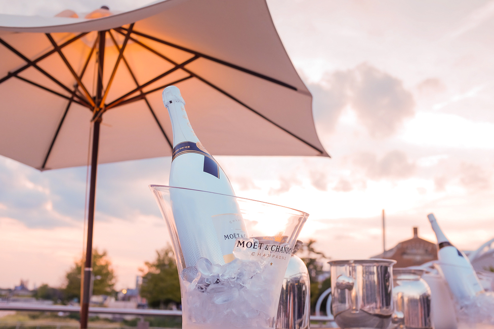 Moet Ice was one of the event sponsors, providing VIP and press guests with seemingly-bottomless magnum bottles of the fizzy drink that was perfect for a late summer party.