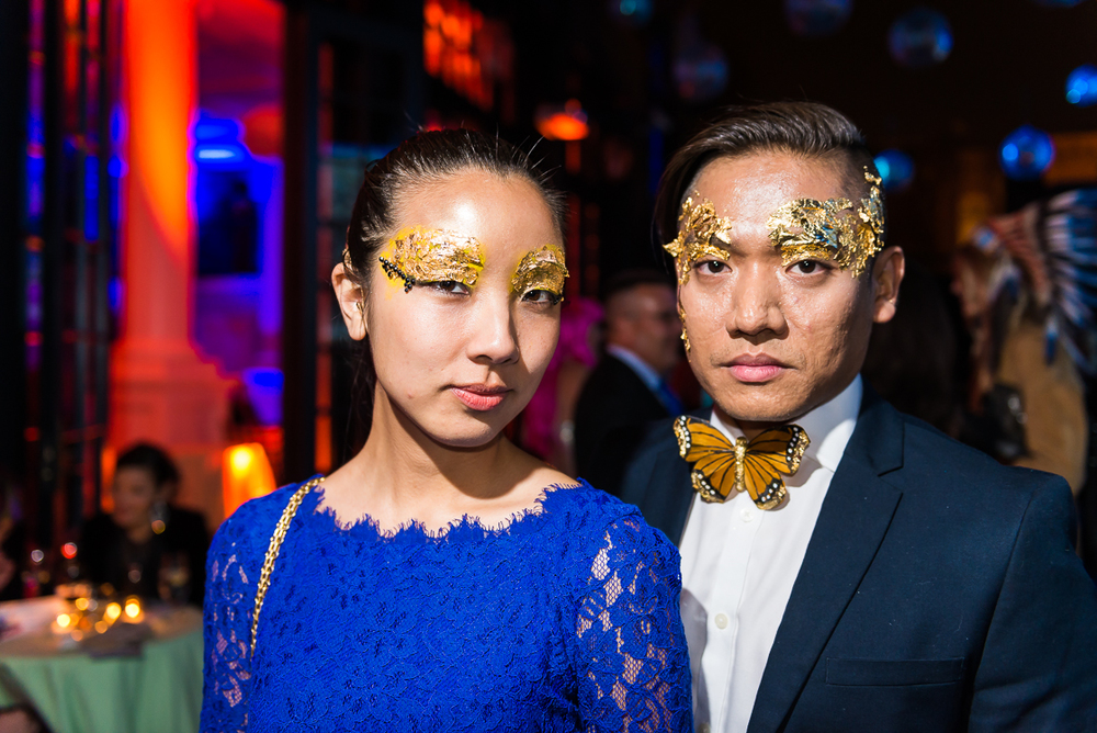 Donna Le and Nicanor Aquino came in butterfly couture.