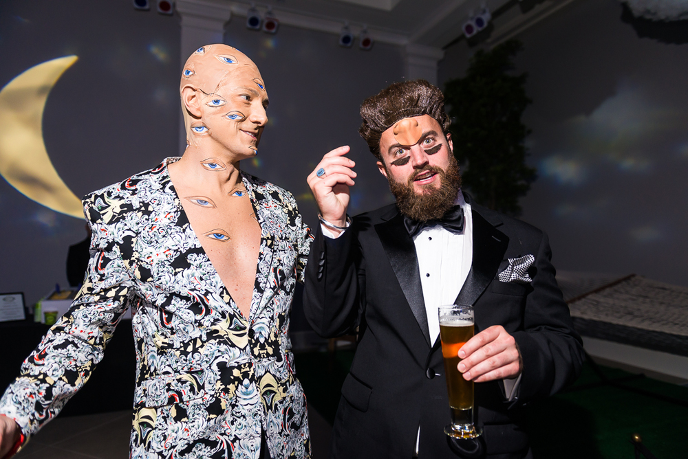 Maximillian Merrill of Western Growers and Michael Lake show off their surrealist attire.