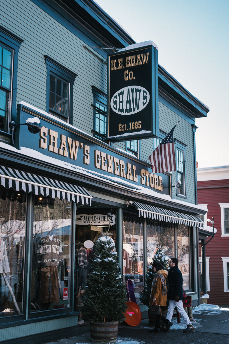 "Family owned since 1895, Shaw's General Store in Stowe, Vermont is one of the many small town general stores that remain in business today. From boots to candy, they have a huge variety of Vermont ""essentials"" and deliver neighborly service with a smile."
