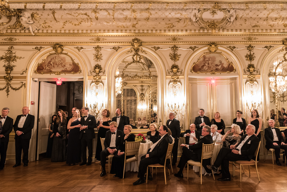 Guests of the Russian Ball relax after dinner for the recital portion of the annual social event, held this year on January 10 (Photo by Kate Warren for The Washington Post).