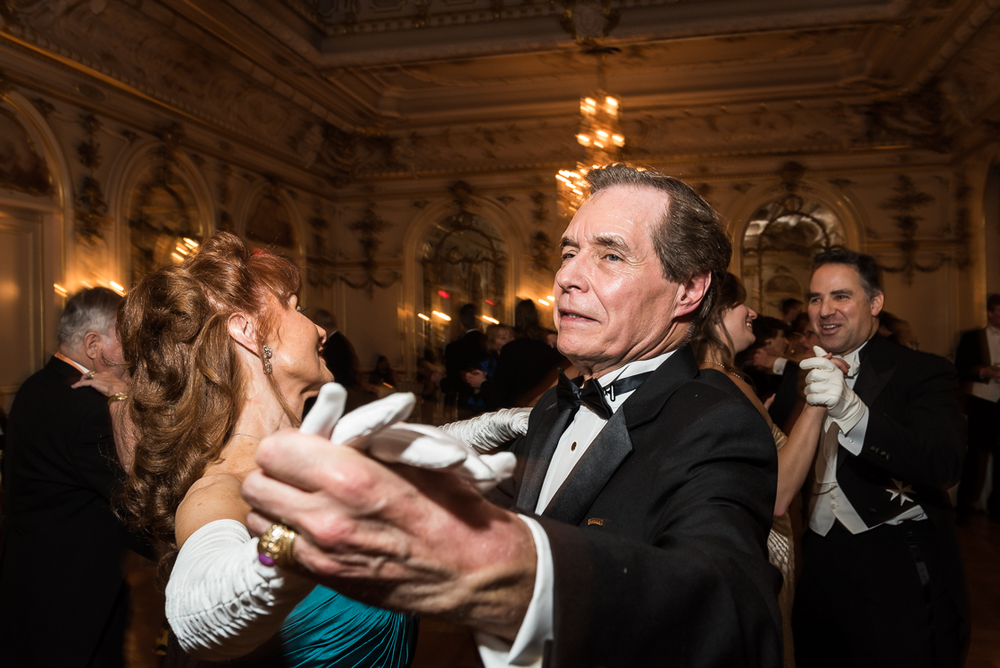 With over twenty years of ballroom dancing lessons under their belts, George and Kim Bentz whirled around the post-dinner dance floor with grace and skill not often seen at today's fetes.