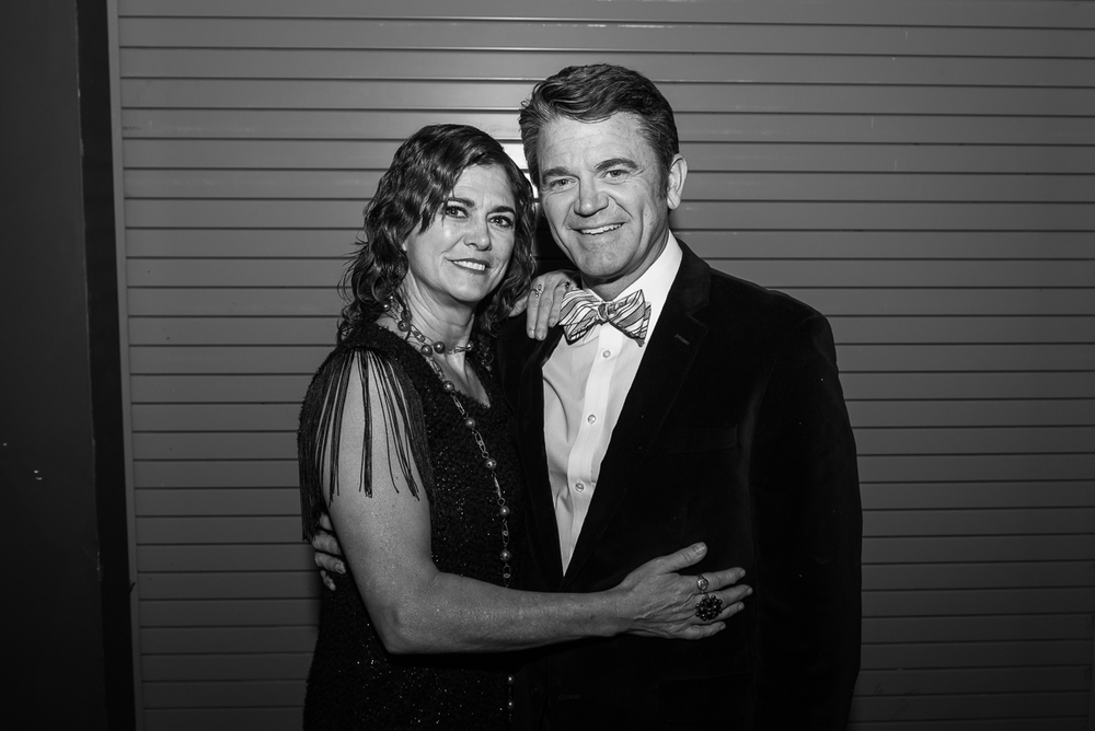 Hollywood actor John Michael Higgins with his sister Maureen Higgins. John Michael Higgins, who has starred in 'Pitch Perfect', 'A Mighty Wind', and 'Best in Show' hosted the after dinner entertainment.