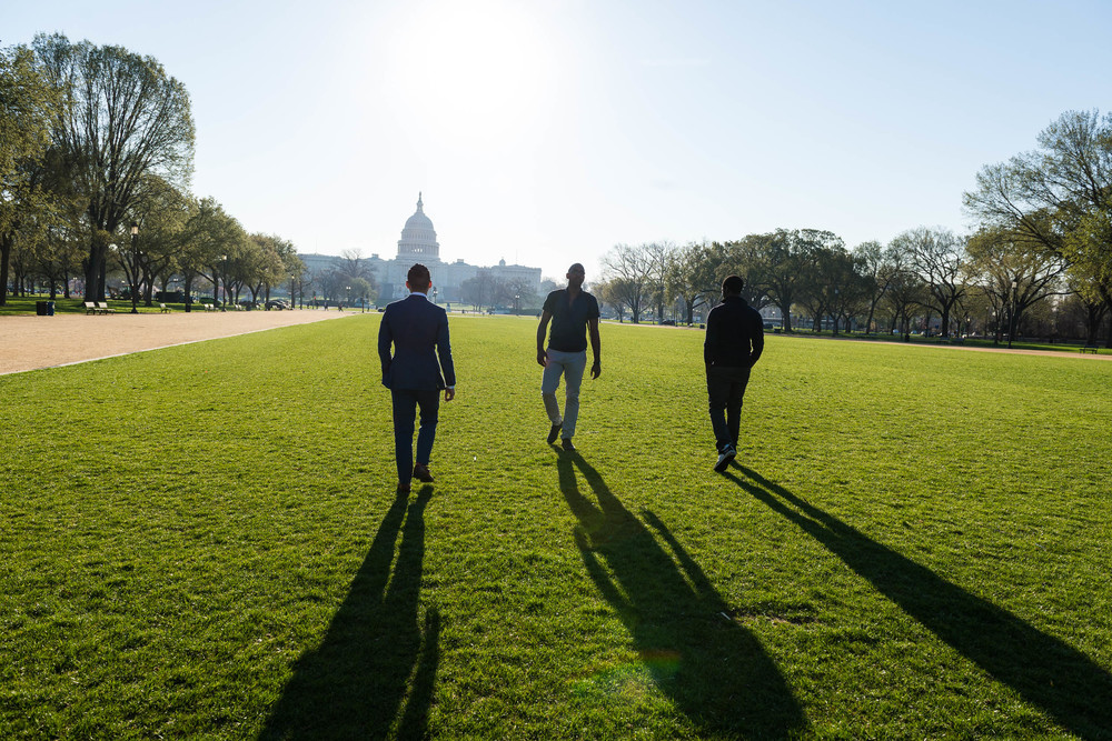 Sunrise pump up walks on the National Mall, before anyone else is out