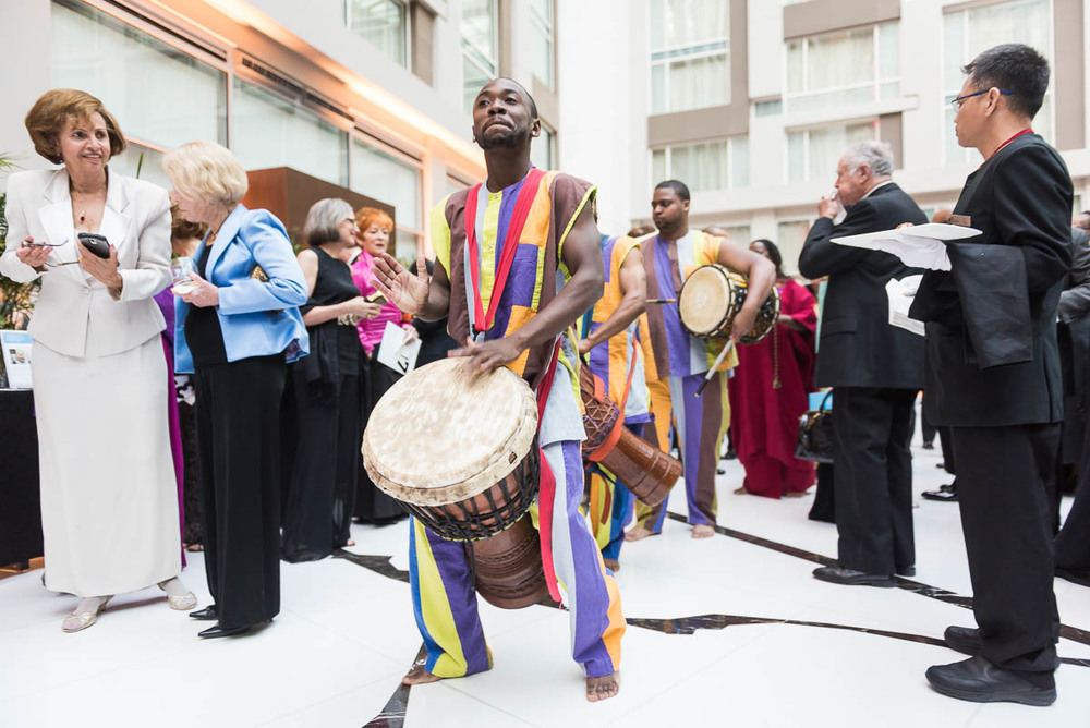 With an international theme this year, the Washington Performing Arts Gala included many performances from around the globe, like these South African musicians and dancers.