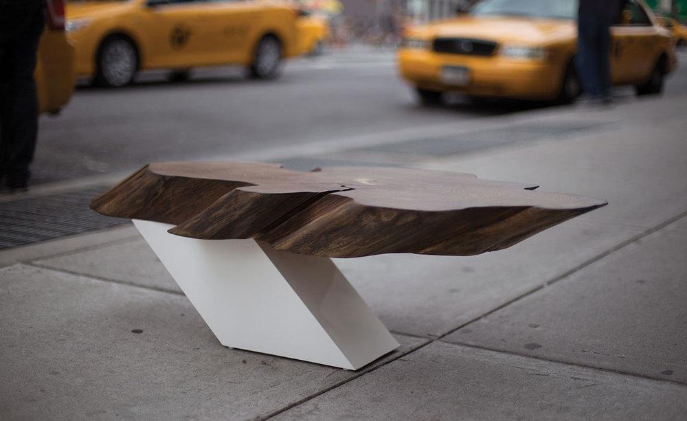 Zora Live Edge Cantilever Coffee Table