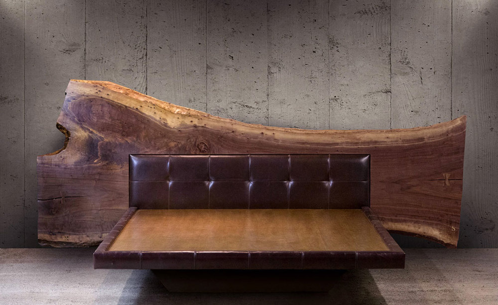 Sentient Live Edge Bed Sentient Made In Brooklyn