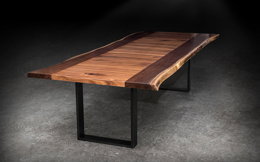 Shapes Live Edge Dining Table SENTIENT Made In Brooklyn