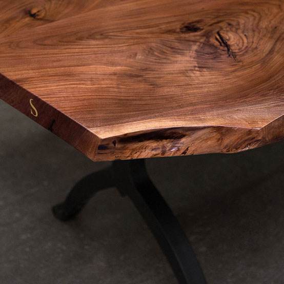 SENTIENT Live Edge Design Collection Including Live Edge Dining Tables