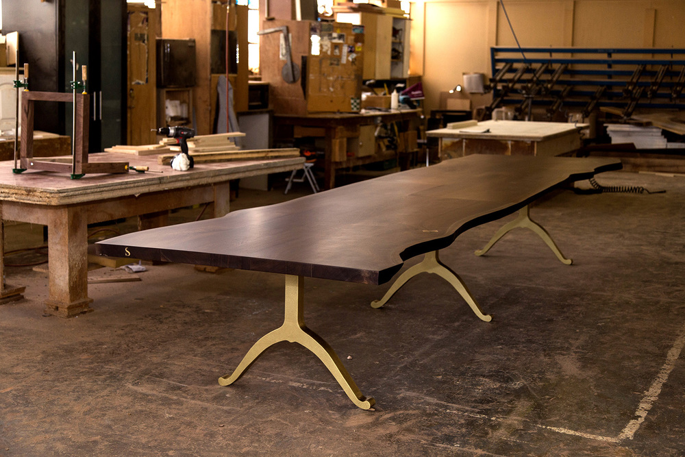Charmant Extra Long Live Edge Table