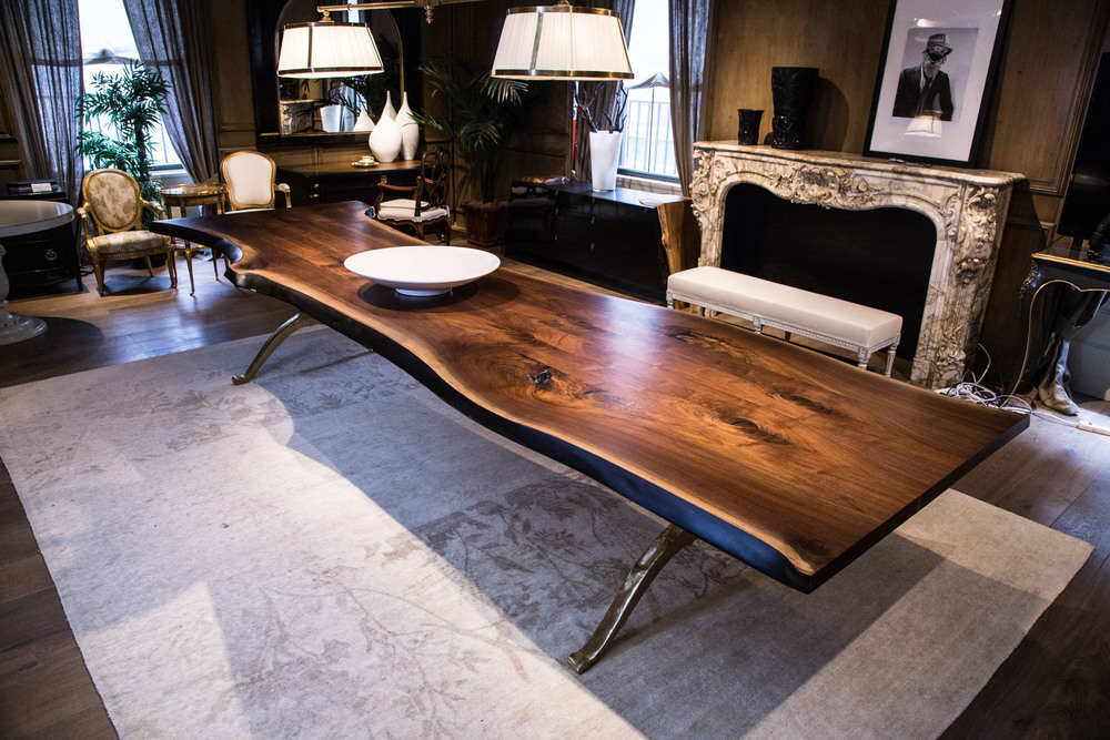 SENTIENT Signature Live Edge Walnut Table