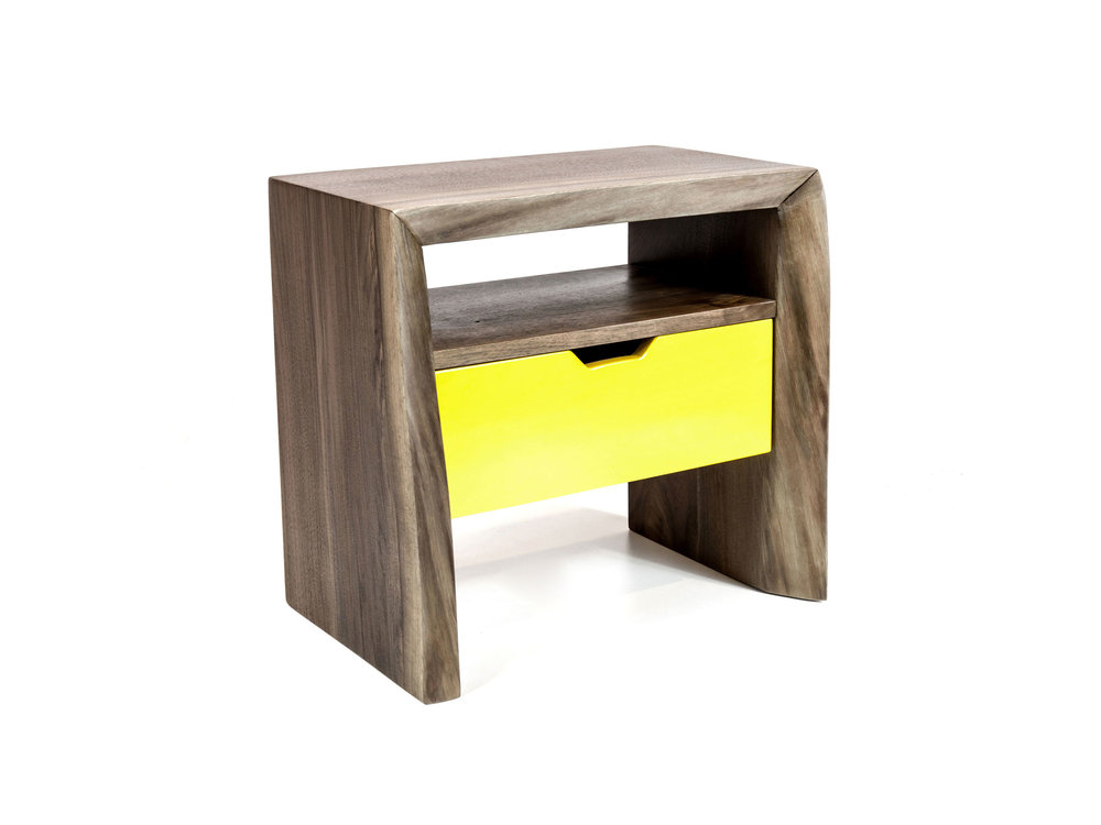 SHIMNA Live Edge Night Stand