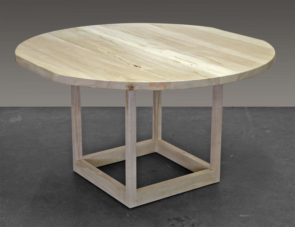 Flow Pedestal Table in Ambrosia Maple