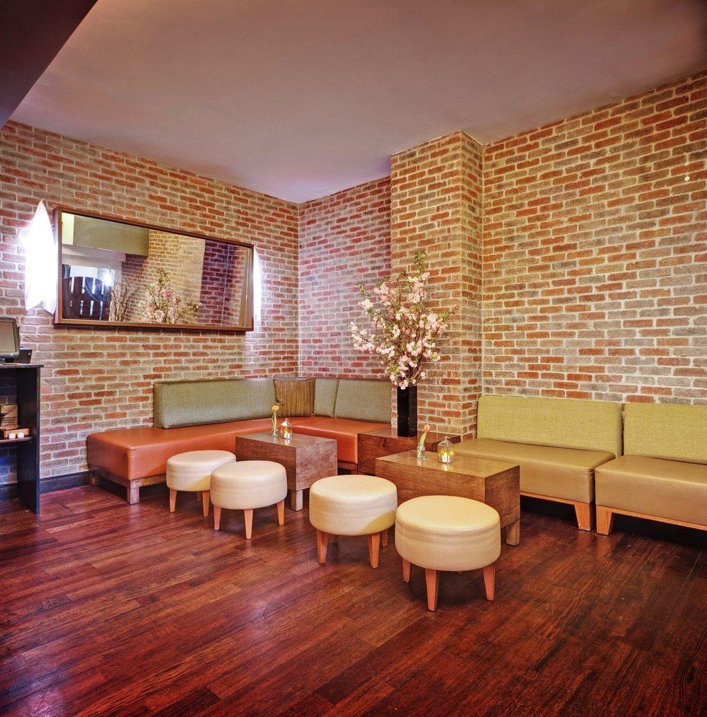 Modular Seating and Cocktail Tables for Bread & Tulips Restaurant at Hotel Girafe by Sentient Furniture