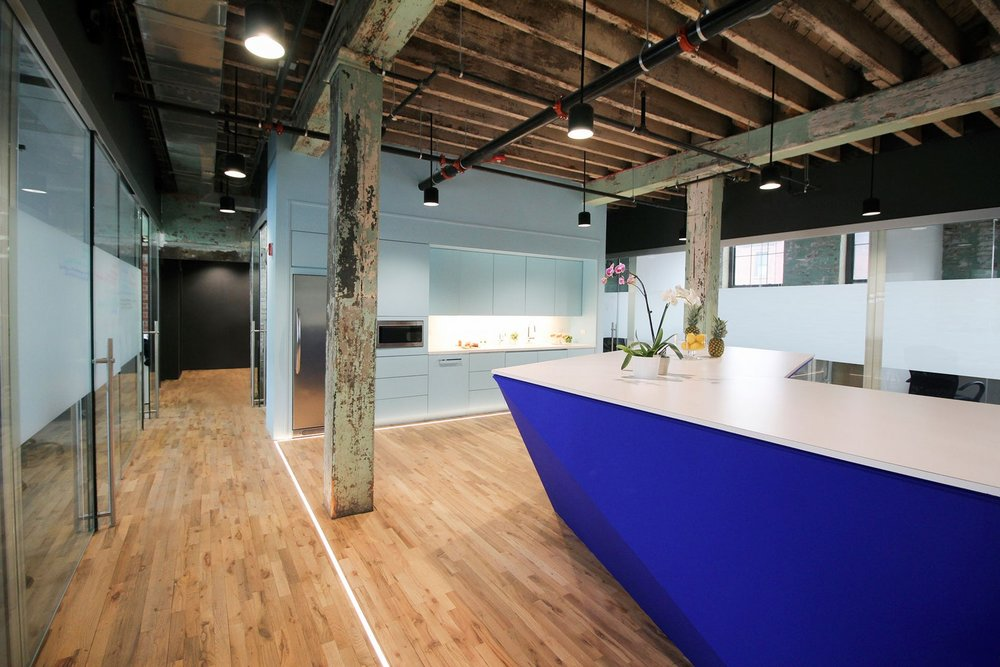 Custom Millwork at Bond Collective Coworking Space Gowanus Brooklyn by Sentient Furniture