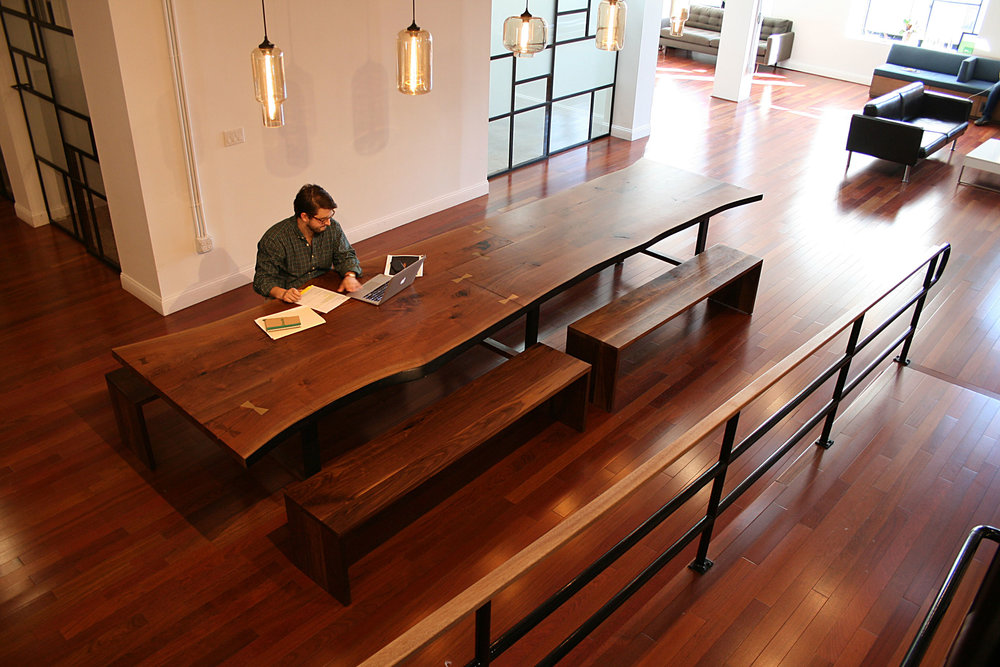 Large American Black Walnut Conference Table for Pearlfisher New York Office by Sentient Furniture
