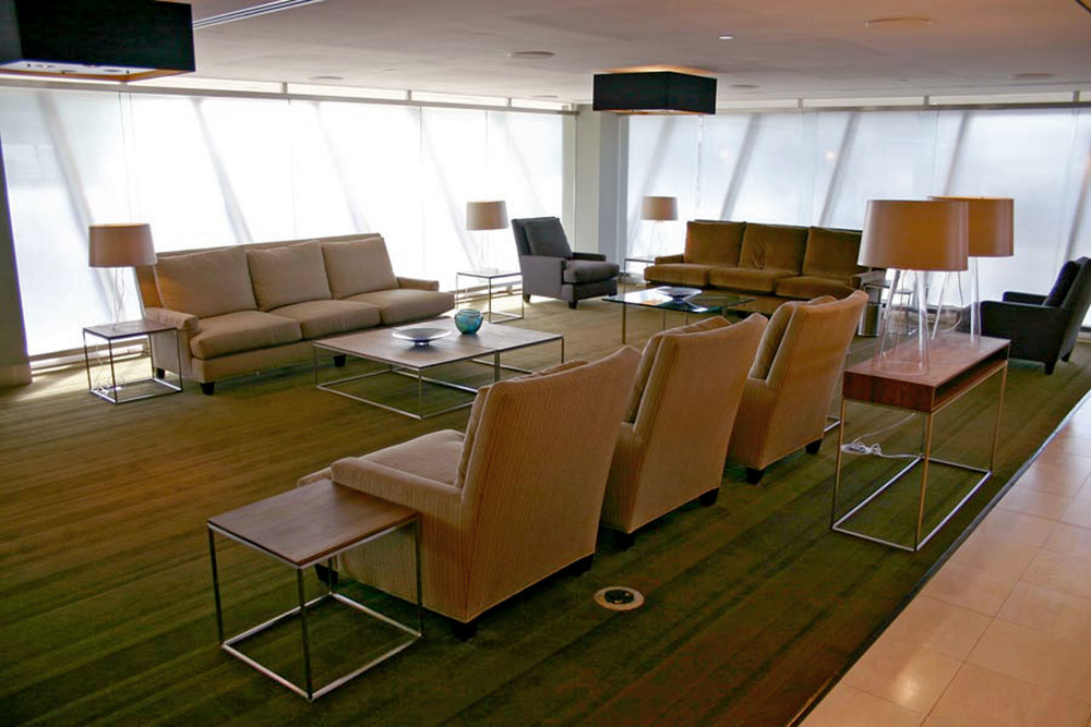 Furniture and Millwork at British Airways First Class Lounge at JFK Airport in NYC by Sentient Furniture