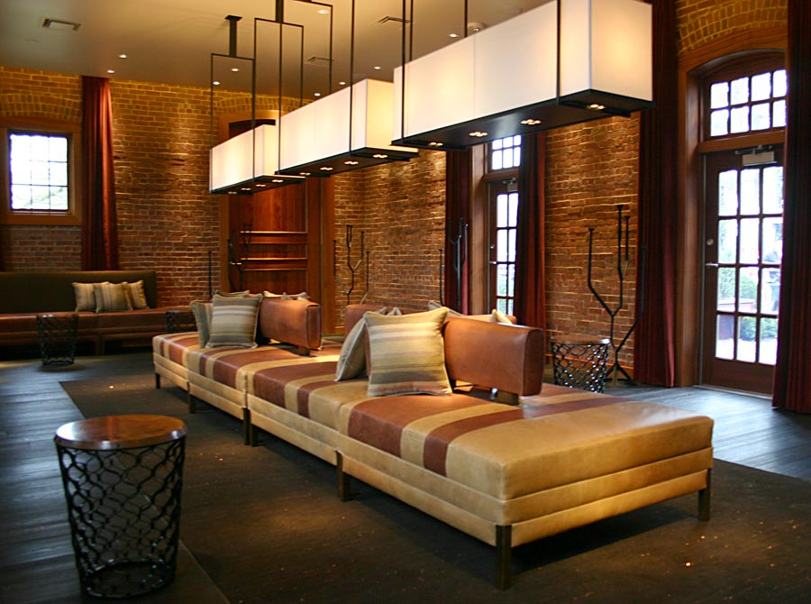 Custom Upholstery at Natirar Virgin Spa by Sentient