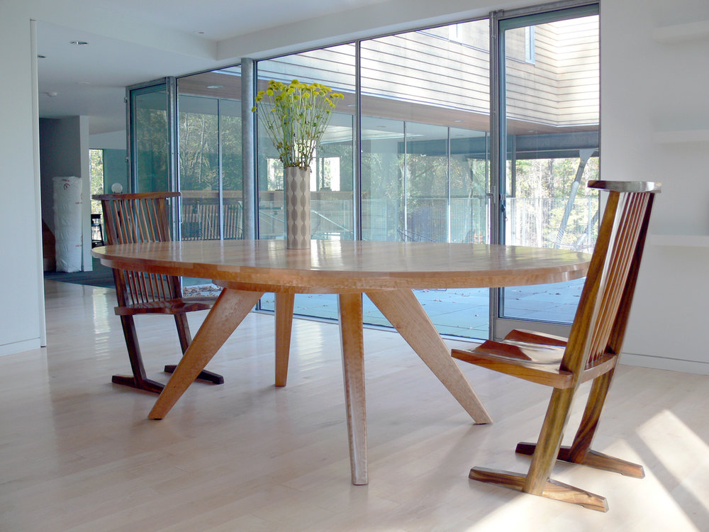 Custom Oval Maple Dining Table by Sentient