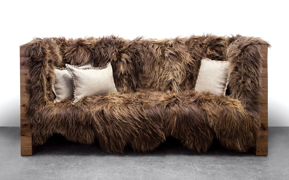 Long Wool Sofa