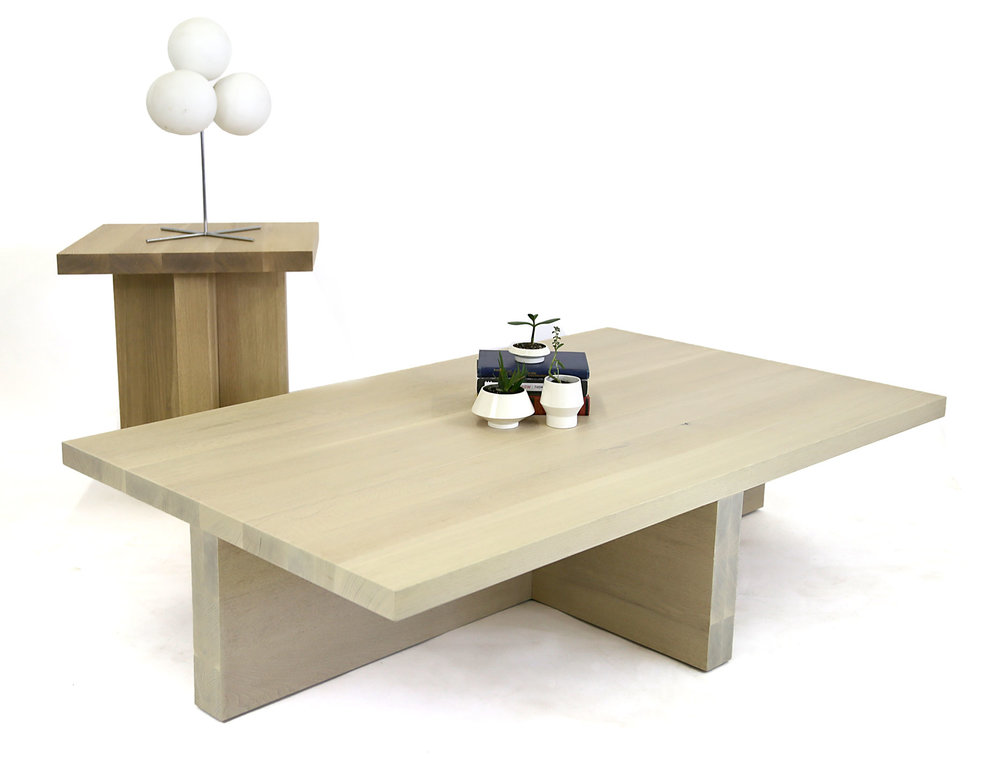 Copy of Custom White Oak Coffee and Side Table