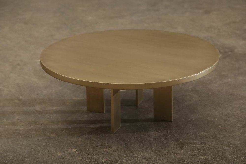 Copy of Custom Brushed Brass Round Coffee Table