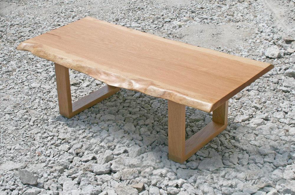 Copy of Custom Live Edge Slab Oak Coffee Table
