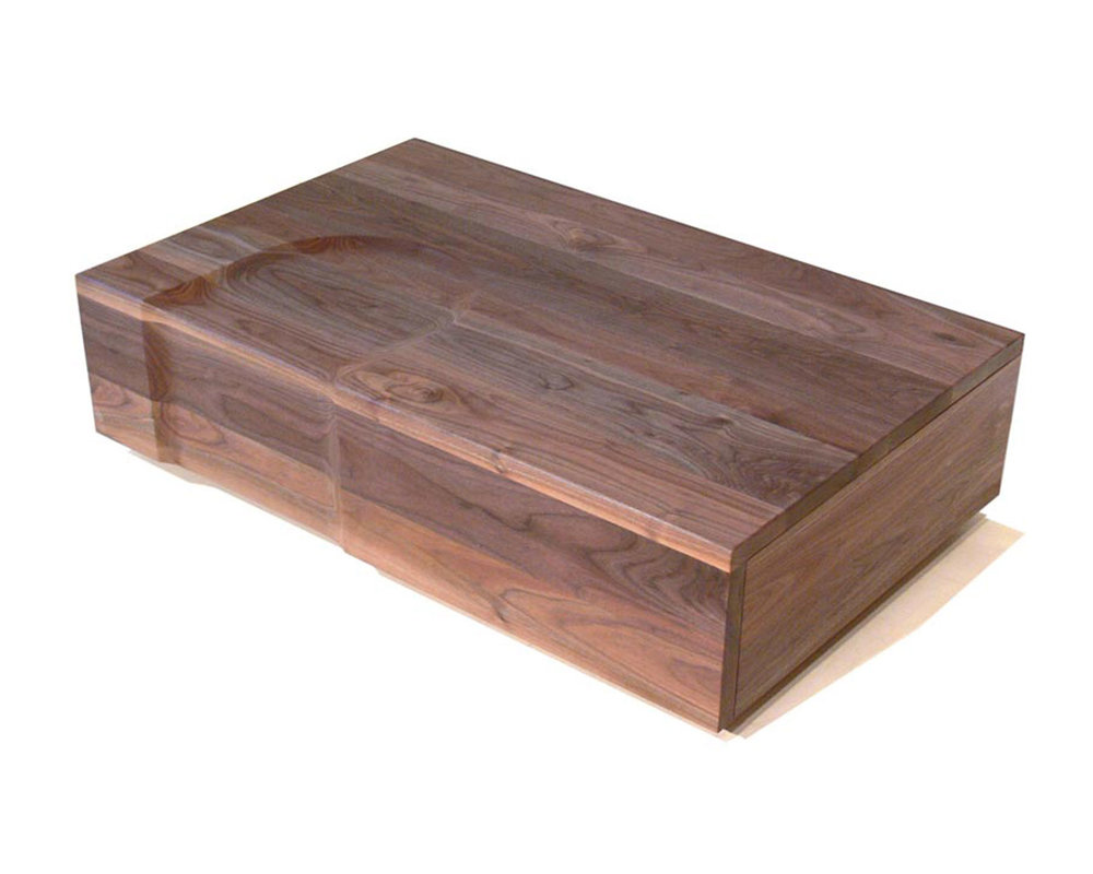 Copy of Custom Walnut Storage Trunk Chest Coffee Table