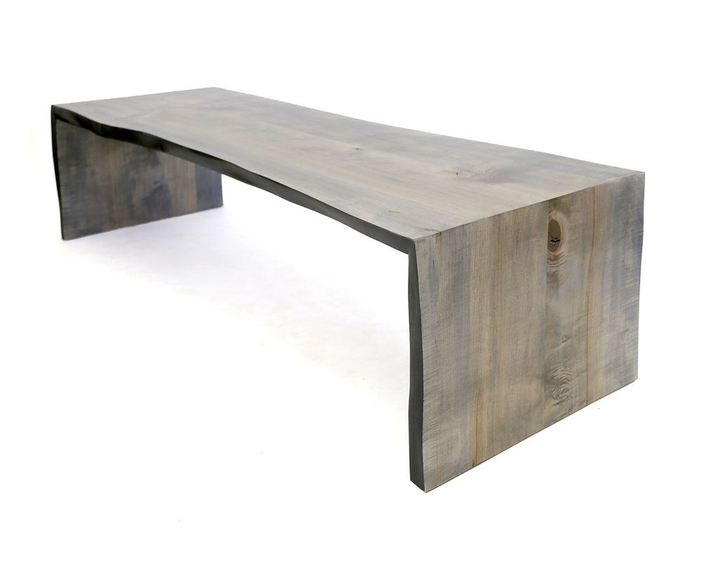 Driftwood Folded Live Edge Console