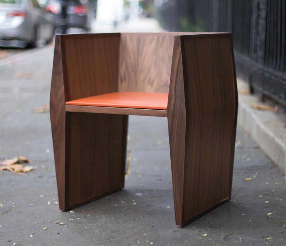 Sapience Chair in Walnut w/Vinyl Seat