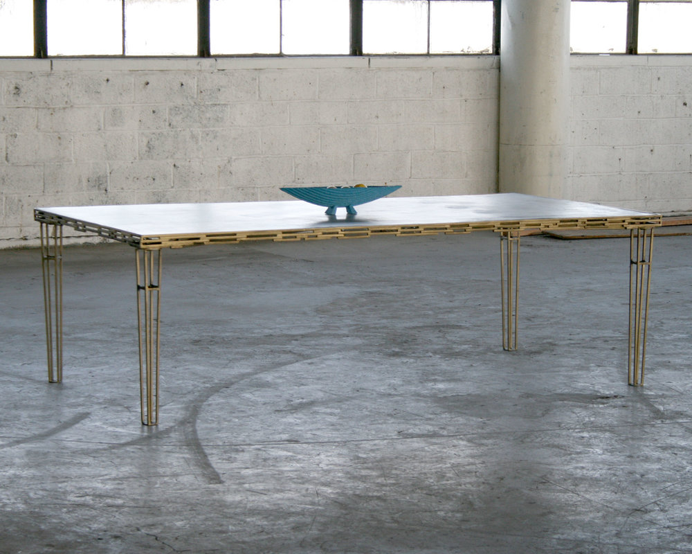 Brass + Concrete Table