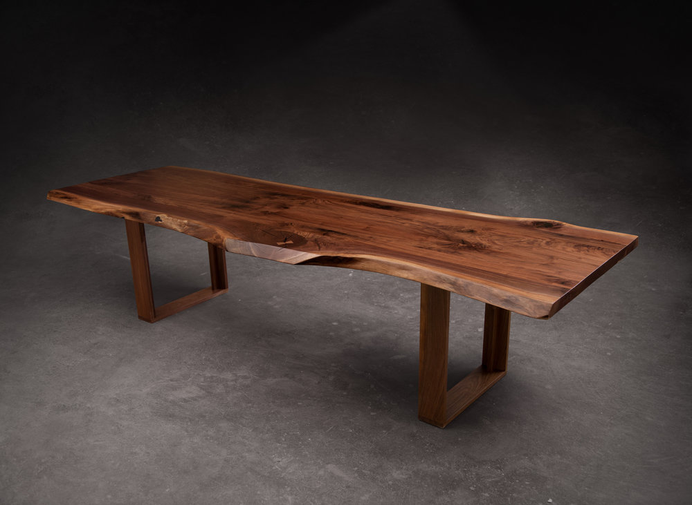 SENTIENT American Black Walnut Live Edge Dining Table