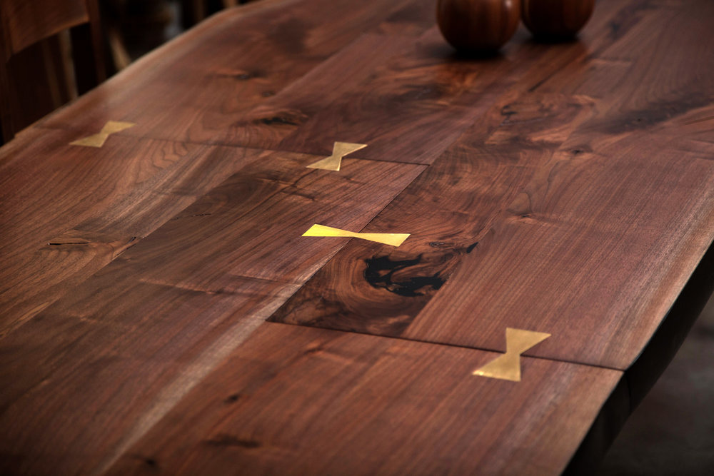 Super Long Live Edge Table