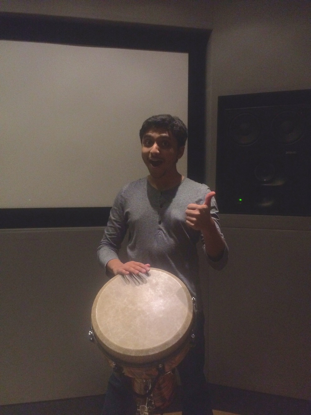 nitish with djembe