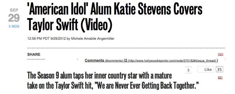 'American Idol' Alum Katie Stevens Covers Taylor Swift (Video).jpg