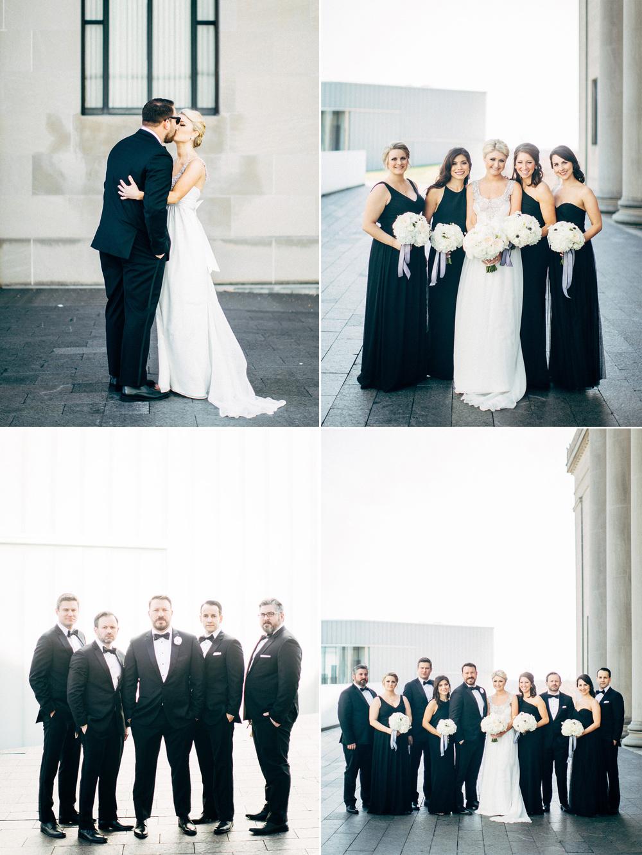 Kansas City Engagement & Wedding Photographer - Nelson Atkins Wedding Party Portraits