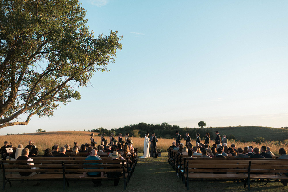 Flint Hills Wedding Ceremony Reception Photographer