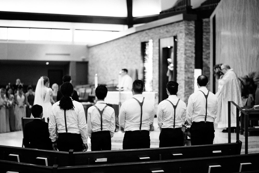 Curé of Ars Catholic Church, the Bride and the Bauer Event Space Wedding Ceremony and Reception