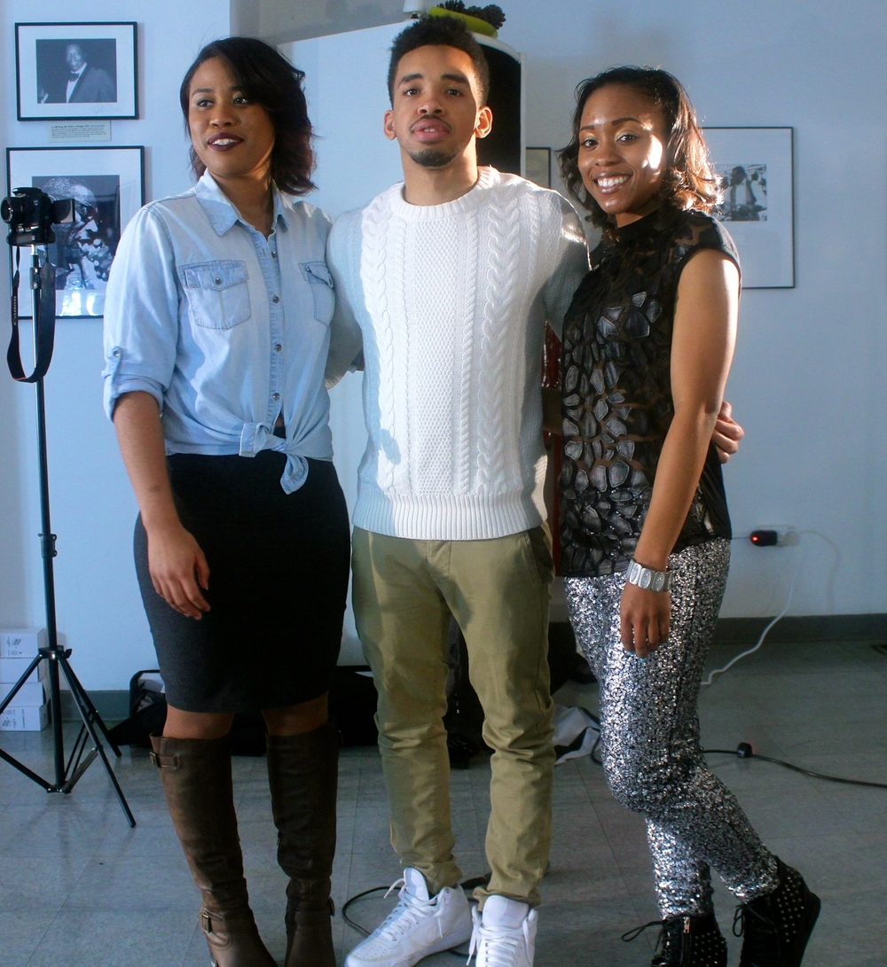 Nick Astro with two of his Actresses